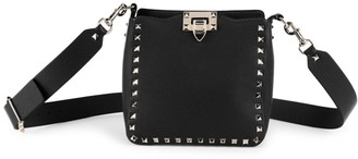 Valentino Mini Rockstud Leather Hobo Bag