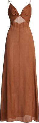 Johanna Ortiz Inner Growth Convertible Textured Crepe Maxi Dress
