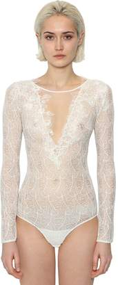 Ermanno Scervino Lace Bodysuit W/ Sheer Inserts