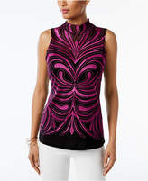 INC International Concepts Embroidered Illusion Top, Created for Macy's