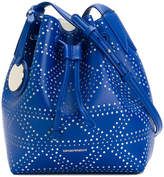 Emporio Armani embossed satchel bag