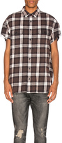 R 13 Oversized Cut Off Shirt