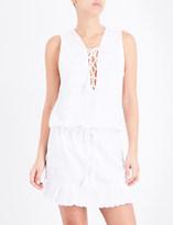 Melissa Odabash Layla lace mini dress