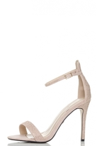 Quiz Pink Diamante Barely There Sandals