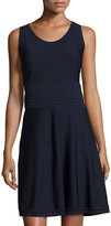 Catherine Malandrino Sleeveless Pointelle A-line Dress, Navy