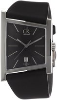 Calvin Klein Men's District K0Q21107 Leather Swiss Quartz Watch with Dial