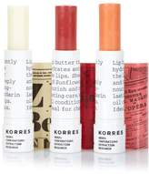 Korres Mandarin Lip Butter Stick Trio