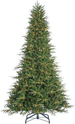 clear Sterling Tree Company 9Ft Pre-Lit Natural Cut Narrow Jackson Pine W White Lights