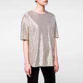 Paul Smith Women's Metallic Gold Short-Sleeved Top