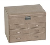 Mele Bennington Locking Jewelry Box - Brown