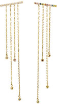 Stevie Wren Rainbow Diamond Bar Post Earrings with Multi-Chain Dangles