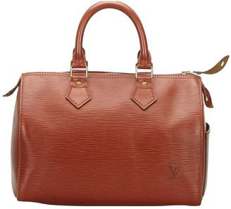 Louis Vuitton Speedy Brown Leather Bags