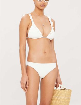 Eberjey So Solid Grayson ruffle-trimmed bikini top