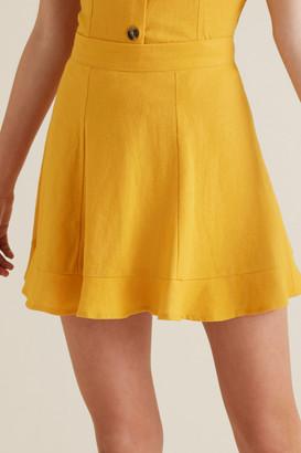 Seed Heritage Linen Blend Flip Skirt