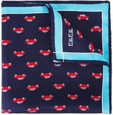 fe-fe car print pocket square - unisex - Silk - One Size