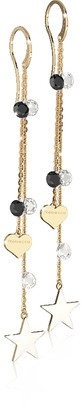 Rebecca Lucciole Gold Plated Sterling Silver Earrings w/Crystals