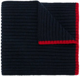 Ralph Lauren ribbed contrast trim scarf - kids - Wool - One Size