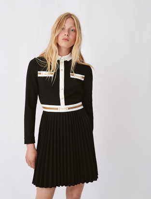 Maje Crepe dress with contrasting details