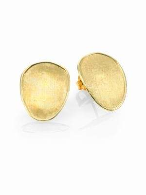Marco Bicego Lunaria 18K Yellow Gold Small Button Earrings