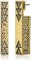 House Of Harlow Golden Scutum Bar Earrings