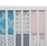 Lambs & Ivy Mix & Match 4-Piece Perfect Fit® Reversible Crib Bumper Set