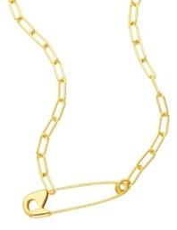 ADORNIA Safety Pin Paper Clip Necklace