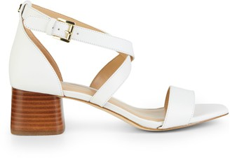 Michael Kors Diane Ankle Strap Leather Sandals