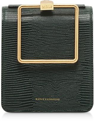 Marge Sherwood Lizard Embossed Leather Pump Handle Satchel bag