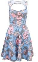 Select Fashion Fashion Womens Multi Large Floral Skater Dress - size 6