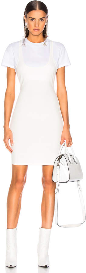 Alexander Wang Variegated Compact Dress in White | FWRD