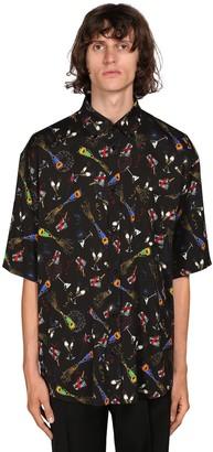 Balenciaga Celebration Print Viscose Blend Ss Shirt