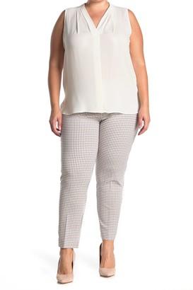 Amanda & Chelsea Micro Check Ponte Knit Pants (Plus Size)