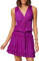 Ramy Brook Hadley Pleated Sleeveless Short Dress