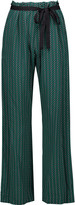 Marni Printed silk wide-leg pants