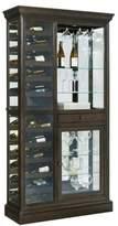 Pulaski Hillsville Mirrored Wine Rack Curio in Brown