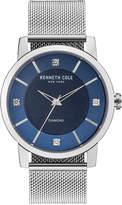 Kenneth Cole New York Men's Diamond-Accent Stainless Steel Mesh Bracelet Watch 43.5mm KC15105002