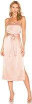 Halston Double Strap Slip Dress