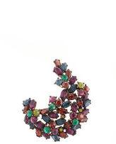 Ben-Amun Ben Amun Silver Tone Multi Colored Crystal Brooch Pin