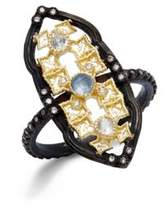 Armenta Diamond & Gemstone Quartz Doublet Cutout Ring
