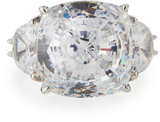 FANTASIA Cushion-Cut Clear CZ Cocktail Ring