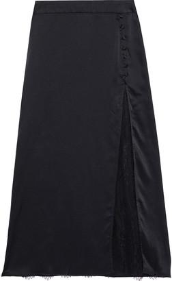 CAMI NYC The Etta Chantilly Lace-paneled Silk-charmeuse Skirt