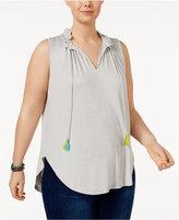 Melissa McCarthy Trendy Plus Size Peasant Top