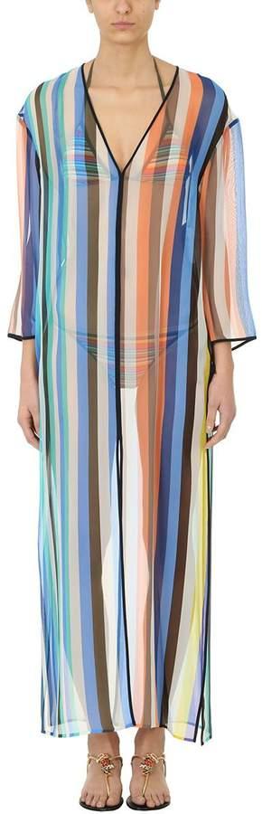 Diane von Furstenberg Multicolored Owen Stripe Print Tunic