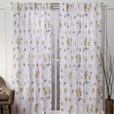 Nicole Miller 2-pack New York La Petite Fleur Floral Cotton Window Curtains