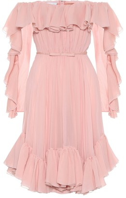 Giambattista Valli Off-shoulder silk minidress