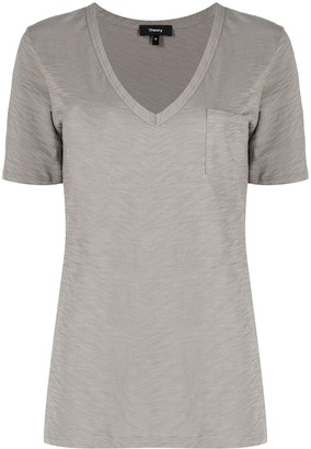 Theory V-Neck Organic Cotton T-Shirt