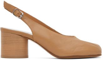 Maison Margiela Tan Slingback Tabi Pump Heels