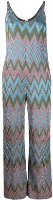 M Missoni Metallic Geometric-Print Jumpsuit