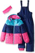 Pink Platinum Little Girls' Circle Quilted Better Snowsuit