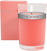 Red Flower Japanese Peony Petal Topped Candle